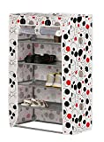 Kurtzy Shoe Rack Space Saving Tower Cabinet Storage 4 Tiers Organizer For Home Or Office- 57*27*70 Cm
