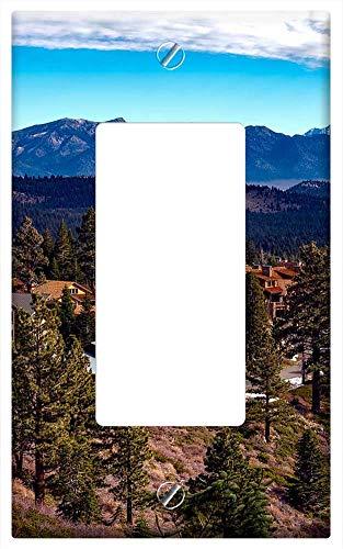 Switch Plate Single Rocker/GFCI - Mammoth Lakes California Landscape Towns Log Cabins