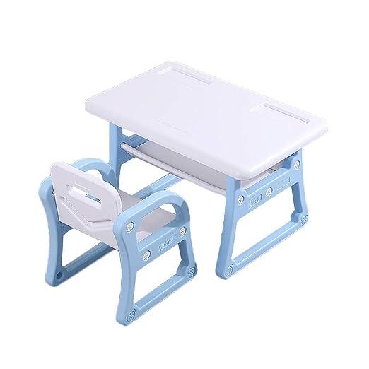 WFENG El juego de mesa y silla para niños con cajones puede ...