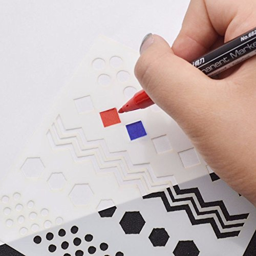 Letter Addressing Stencil.Paper Art Drawing Artist Tape Stencils Shapes Letter