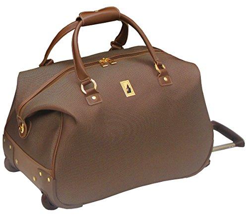 (London Fog Kensington 20 Inch Wheeled Club Bag, Bronze)