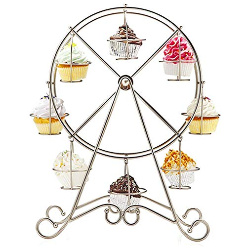 (Hot 8 Cups Cake Stand Metal Ferris Wheel Display Stand Cup Holder Party Decoration Cupcake Stand Wedding For Valentine's Day)