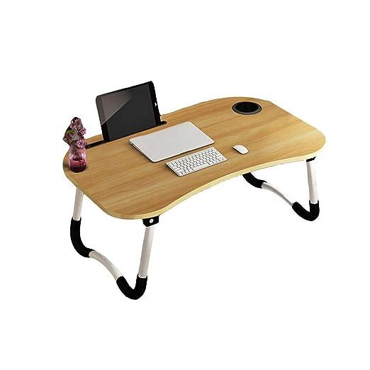 JAG Mesa de Cama para el hogar, Mesa de Estudio de Escritorio para ...