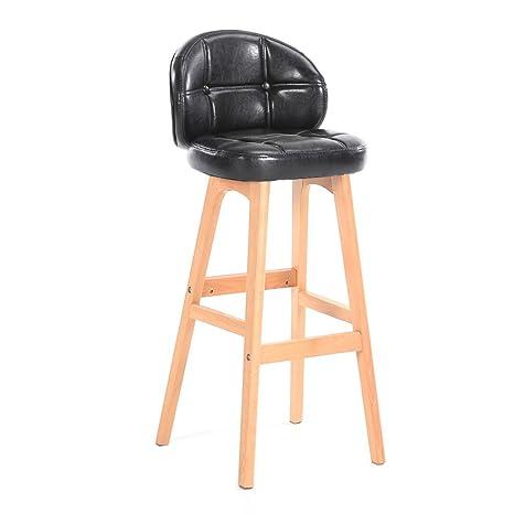 JDⓇ Sgabello alto in legno massello Seduta da bar Sedia da cucina ...