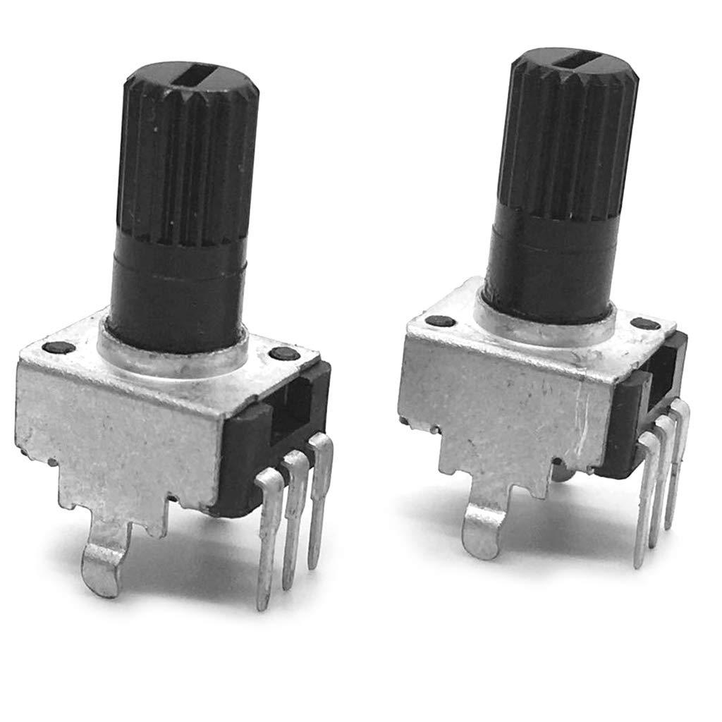LIUXIA 10pcs RV09 Vertical Potentiometer Shaft 12.5mm 1K 2K 5K 10K 20K 50K 100K Long Handle 0931