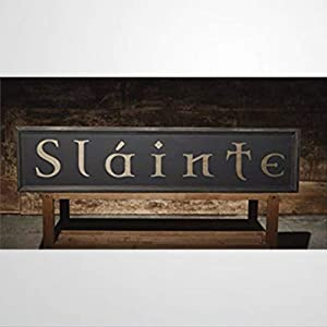 BYRON HOYLE Decorative Wooden Sign Slainte Irish Pub Sign Gaelic Celtic Ireand Home Funny Wooden Sign Wood Plaque Wall Art Wall Hanger Home Decor