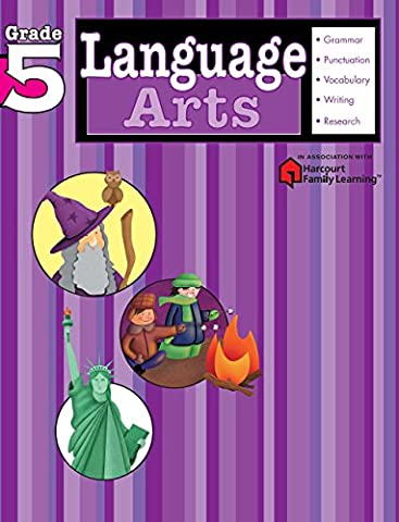 Language Arts: Grade 5 (Flash Kids Harcourt Family Learning) (Language Arts For Kids)