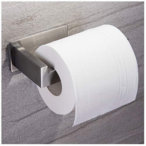 Taozun Toilet Paper Holder 3M Self Adhesive Bathroom Roll Holder Stick on Wall SUS 304 Stainless Steel Brushed by Taozun (Image #6)
