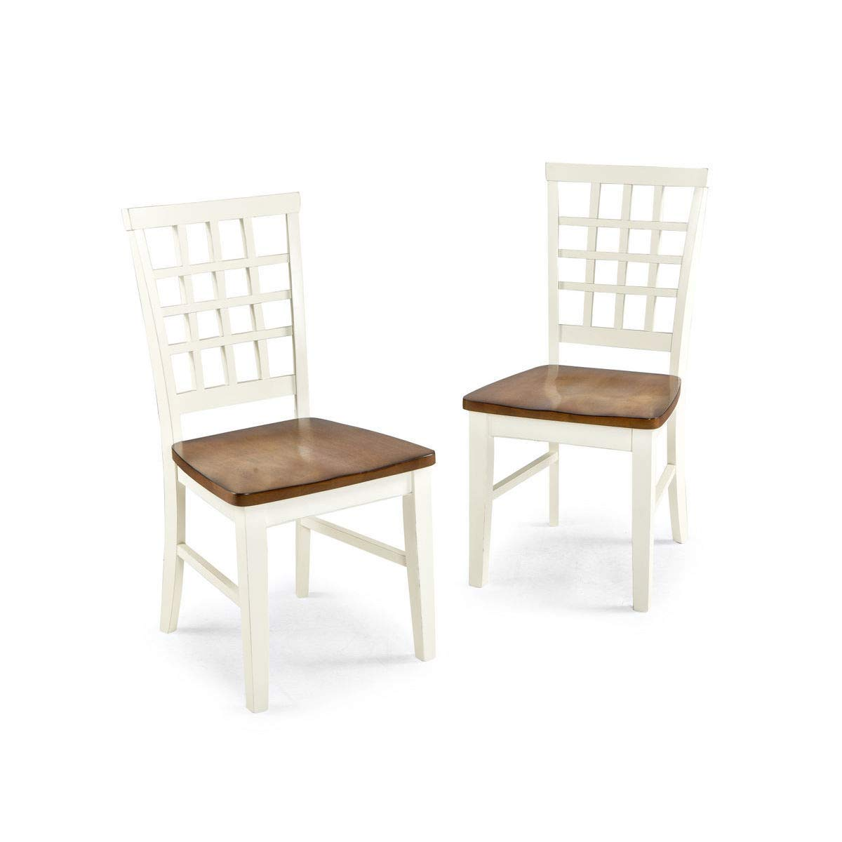 Add Charm Living Room Sets Casual Larry Lattice Back and Wood Seat Dining Chair-Dining Chair  Constructed with A Wooden Seat and A Two Tone Finish- Add Charm to Your Dining  and Living ...