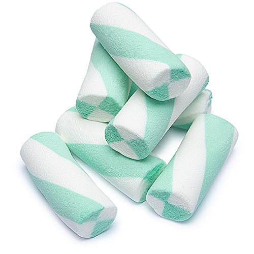 (Puffy Poles Jumbo Marshmallow Twists - Teal: 1KG)