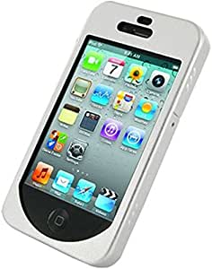 Monaco Apple iPhone 4 4S Metal Shell Shield Case - Non-Retail Packaging - Silver