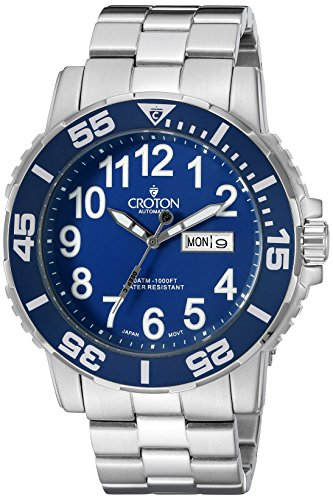 Croton Men's CA301281SSBL Analog Display Chinese Automati...