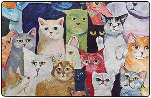 LAURE Alfombra de área de Espuma de Memoria de Franela Alfombra con Gatos Antideslizantes Goma Animal: Amazon.es: Hogar
