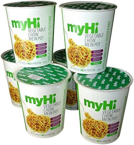 MyHi - Chow Mein vegetariano (62 g, 6 unidades): Amazon.es ...