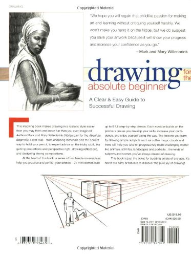 Large Product Image of Drawing for the Absolute Beginner: A Clear & Easy Guide to Successful Drawing (Art for the Absolute Beginner)