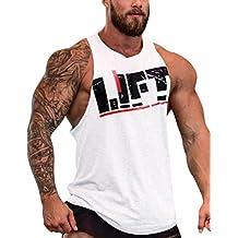 ShiningLove Men Fitness Tank Top BodyBuilding Breathable Sleeveless Stringer Workout Gym Sport Vest