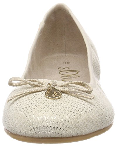 Beige S Femme 22106 Struct beige Ballerines oliver aS4zwqFO