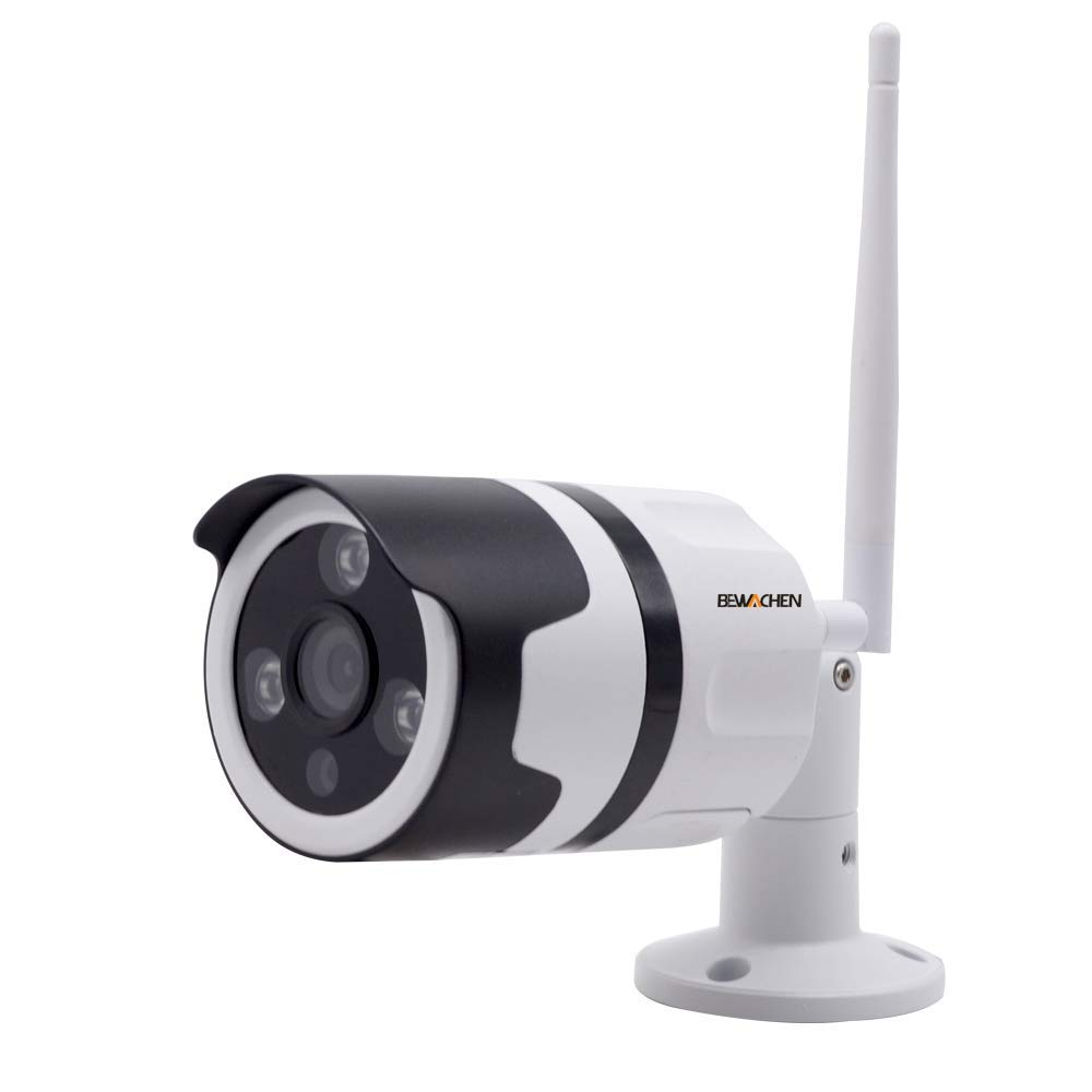 Home Camera, 1080P HD WIFI Bullet Cameras Wireless IP Surveillance Camera, IR LED Motion Detection IP Cameras, Aluminum Metal Housing