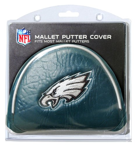 Team Golf NFL Philadelphia Eagles Golf Club Mallet Putter Headcover, Fits Most Mallet Putters, Scotty Cameron, Daddy Long Legs, Taylormade, Odyssey, Titleist, Ping, Callaway ()