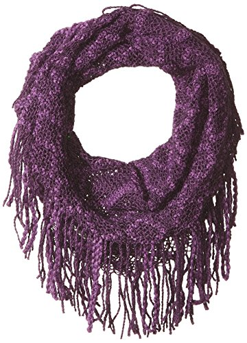 Britt's Knits Fringe Benefits Tube Scarf, Purple, One Size