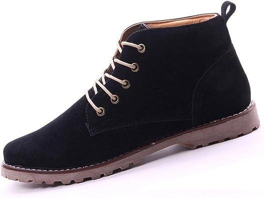 Gleader britanicos para Hombre Casual de Encaje Gamuza Botines Mocasines Zapatillas de Deporte Negro (Tamano:39): Amazon.es: Zapatos y complementos