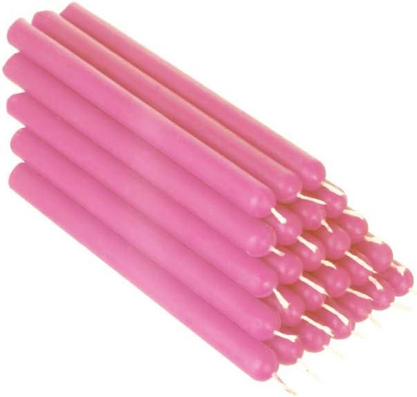 NKlaus 36347 Lot de 25 bougies de table en cire dabeille en forme de rose 12 cm