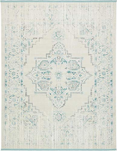 Unique Loom New Classical Collection Traditional Distressed Vintage Classic Beige Area Rug (8' 0 x 10' 0)