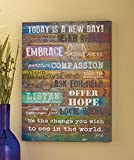 Today is a New Day Wood Wall Art by Marla Rae - 16 x 12