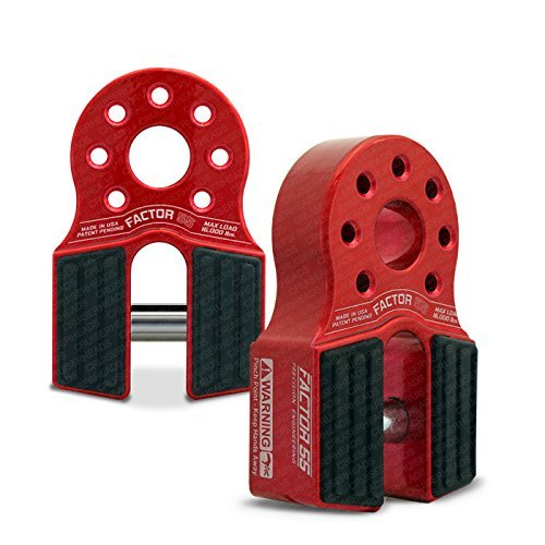 Factor55 FlatLink Loaded Shackle Mount (16,000 Lbs) - Red by FACTOR 55