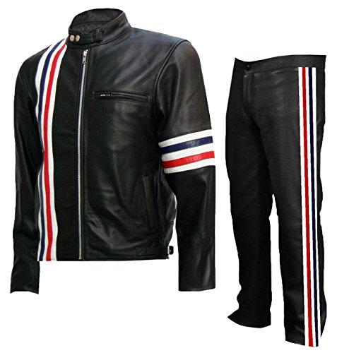 Peter Fonda Easy Rider Costume (Easy Rider Biker Black Leather Suit (2XL))
