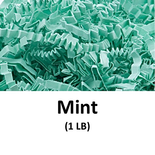 Crinkle Cut Paper Shred Filler (1 LB) for Gift Wrapping & Basket Filling - Mint | MagicWater Supply by MagicWater Supply