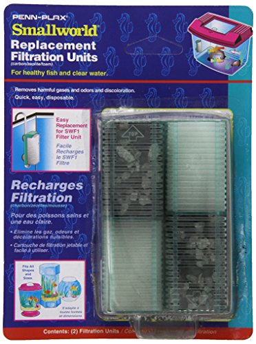 - Penn Plax 12-Pack Small World Filter Units and Replacement Cartridges for Small Tanks