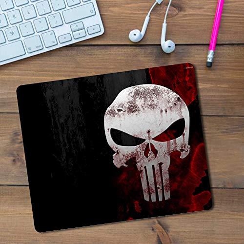 iKraft Skull Mousepad,Rectangle Non-Slip Rubber Horror Inspired Mousepad-Black