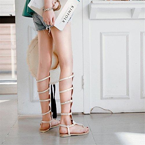Comfort para Bottom Noche Boots 37 Sandal Belt tamaño Buckle Bottom Mujer Zapatos Tall de Hollow Boots Zapatos Color Mujer y de Do Caminar para Zapatos Fiesta txqaw1XO