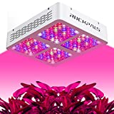Cheap Rockpals 1200W 600W LED Grow Light w/Dimmer & Timer, Brighter & More Efficient, 12-Band Full Spectrum IR & UV, Dimmable VEG & BLOOM Switch, Indoor Plant Growing Lamp for Greenhouse Flower (1200W)