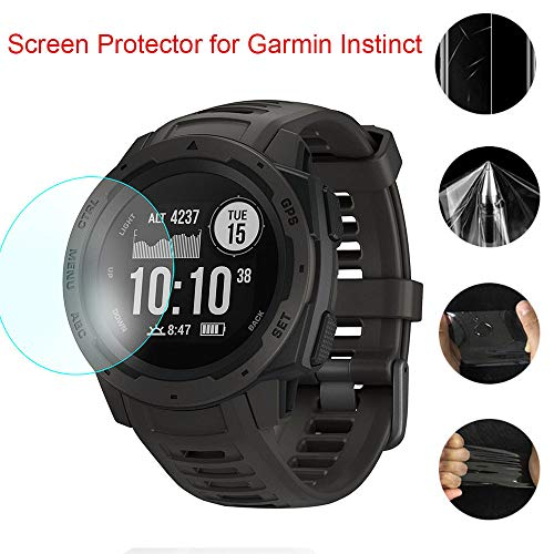 Huangou [1 Pack ◆ Smart Watch HD Film ◆ Ultra Clear Transparent Pet Film Screen Protector for Garmin Instinct (Clear) by Huangou (Image #3)