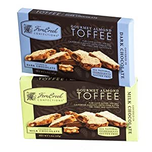 Chocolate Almond Toffee Bar by Fern Creek Confections - Dark (5.2 ounce)
