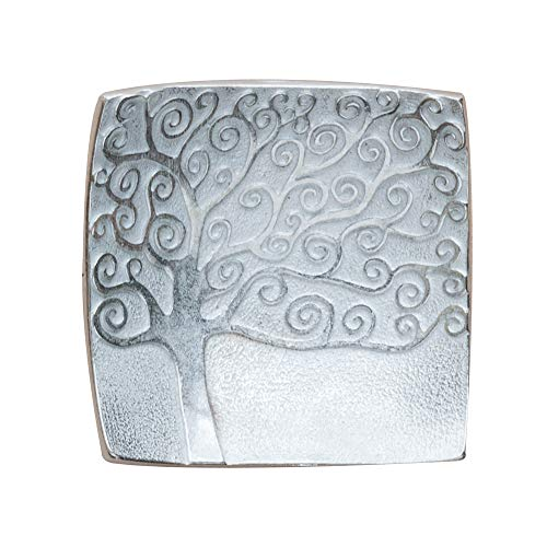 2.125 Squares - DANFORTH - Vilmain - Tree of Life - Tray - Jewelry Dish - Pewter - 2 1/8 Inches Square - Made in USA