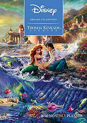 thomas kinkade studios disney dreams collection 2020 monthly pocket planner cal