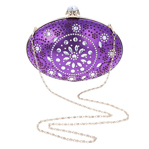 Bag Hardcase Ellipse Damara Womens Damara Purple Crystal Cocktail Vintage Womens W0q7S8nI
