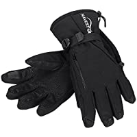 Flexible Warm Winter Gloves for Men & Women, NAVESTAR Waterproof Ski Gloves with Touchscreen Fingers & Zippered Pocket, Thermal Snow Gloves for Adults Snowboarding Snowmobile
