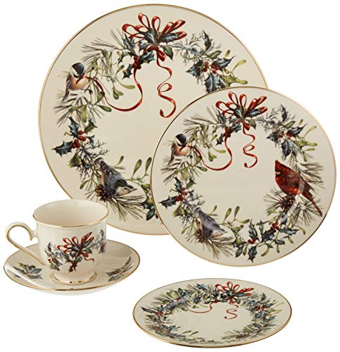 Lenox Winter Greetings 5 Piece Place Setting (Complete Place Setting)