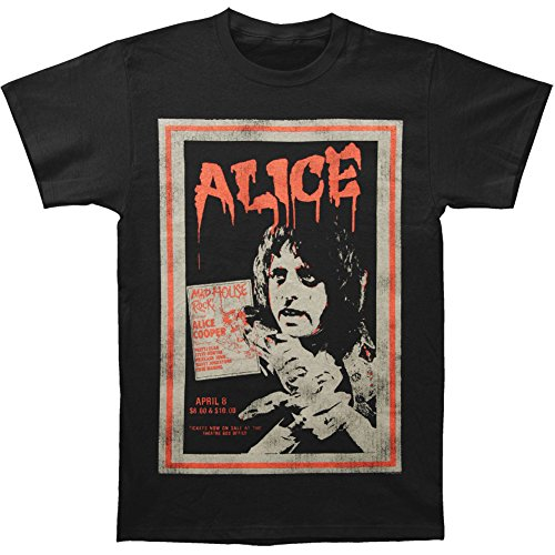 Alice Cooper Mens Tee: Vintage Poster (Medium) - Black - Medium