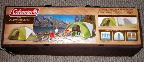 Coleman 6-Person Ara Tent – Green (10'x9′), Outdoor Stuffs
