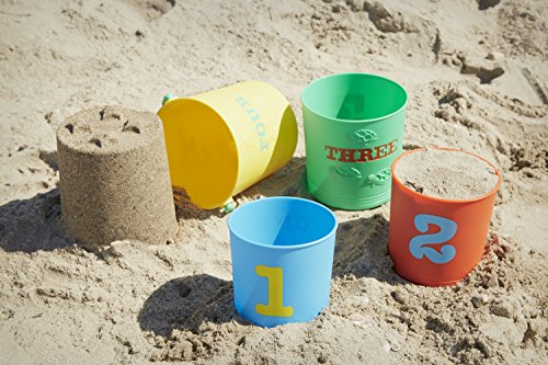 Melissa & Doug Sunny Patch Seaside Sidekicks Nesting Sand Pails
