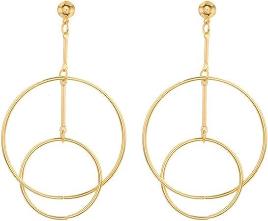 Kofun Ear Stud Multi Color Circle Round Metal Statement Stud Earrings for Women Jewelry 1#