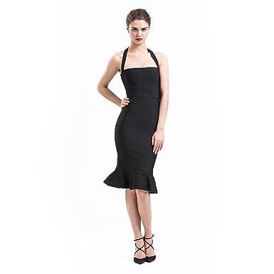 fb82d3d0aa Manosque Women s Bandage Dress Strapless Fishtail Strechy Bodycon Party  Dress (S