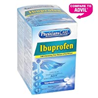 PhysiciansCare Ibuprofen Pain Reliever Medication (Compare to Advil), 50 Doses of Two Tablets, 200mg