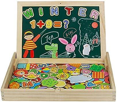 jerryvon Puzzle Magnetico Niños 160 Piezas de Madera Pizarra Magnética Infantil con Rompecabezas Caja Juguete Educativo Puzzle de Animales Regalos Juguetes Niños 3 Años: Amazon.es: Juguetes y juegos