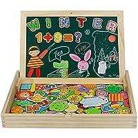 jerryvon Puzzle Magnetico Niños 160 Piezas de Madera Pizarra Magnética Infantil con Rompecabezas Caja Juguete Educativo…